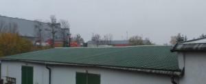 Dach hali - połać północna
